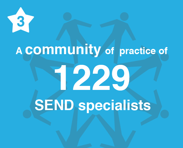 Number 3. A community of practice of 1229 SEND specialists.